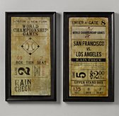 Vintage Baseball Ticket Art