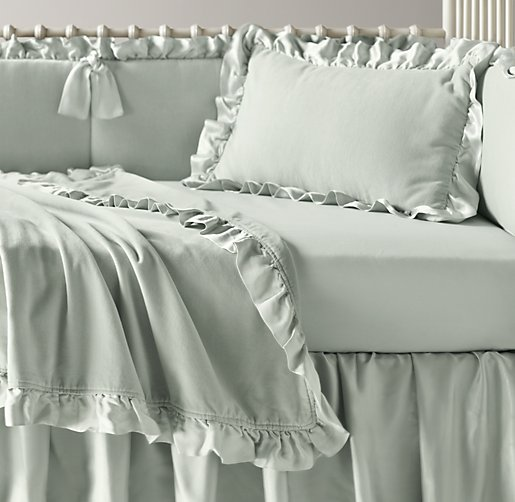 Washed Velvet & Italian 600 Sateen Nursery Bedding Collection
