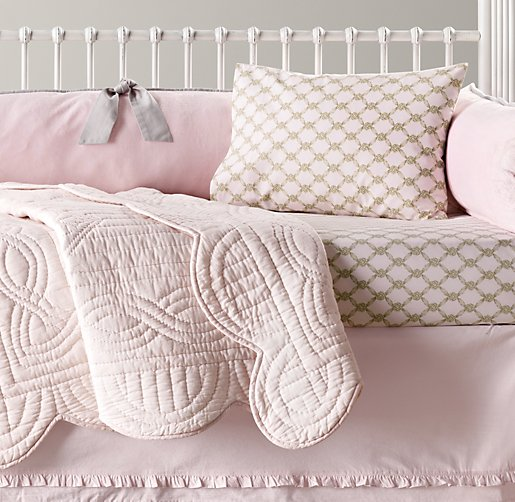 Cuddle Plush & European Rosette Lattice Nursery Bedding Collection