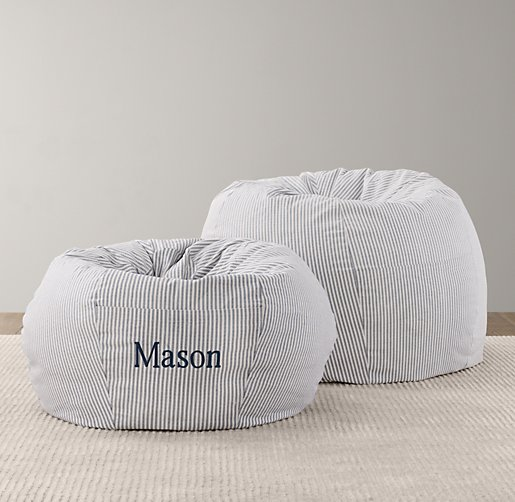 Printed Canvas Bean Bag Cover
