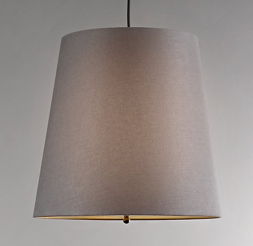 Barrel Shade Pendant Grey