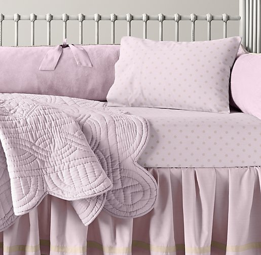 Cuddle Plush & European Pin Dot Nursery Bedding Collection
