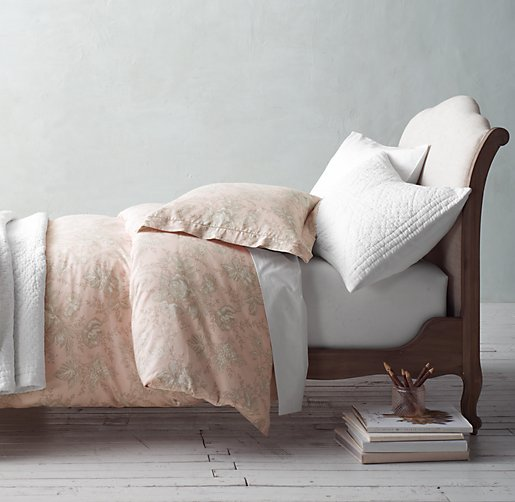 Antique Floral & European Vintage-Washed Percale Bedding Collection