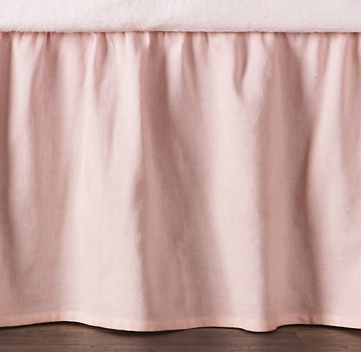 Washed Linen-Cotton Solid Crib Skirt