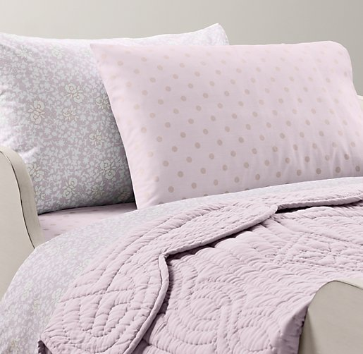 European Fleur & European Pin Dot Toddler Bedding Collection