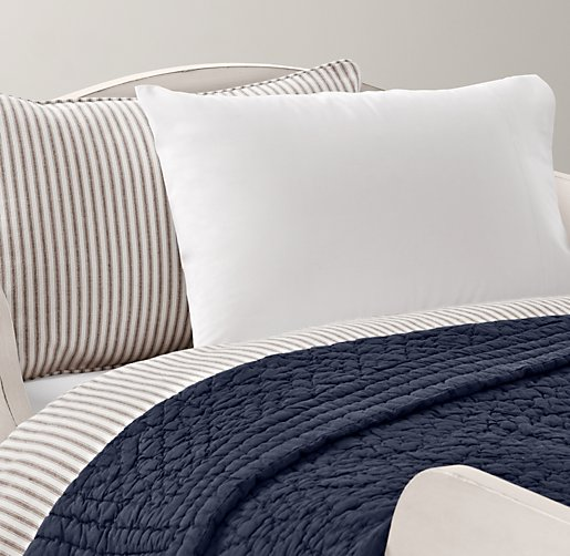Henley Stripe & European Vintage-Washed Percale Toddler Bedding Collection
