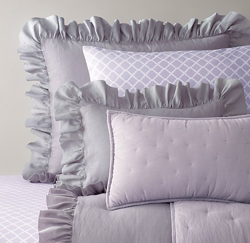 Frayed Ruffle & European Trellis Bedding Collection
