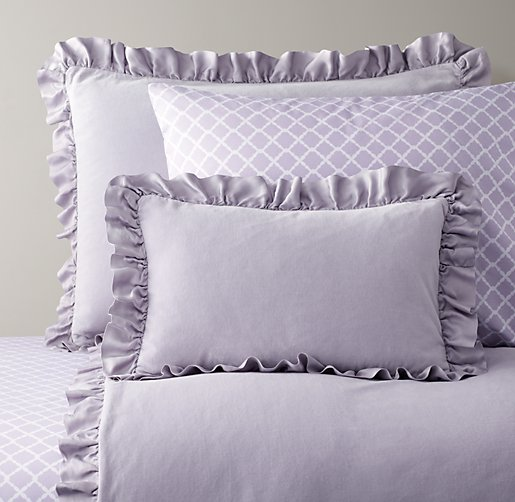 Washed Velvet & European Trellis Bedding Collection