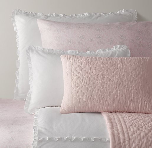 European Vintage-Washed Ruffle & European Fleur Bedding Collection