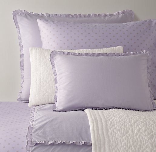 European Vintage-Washed Ruffle & European Pin Dot Bedding Collection
