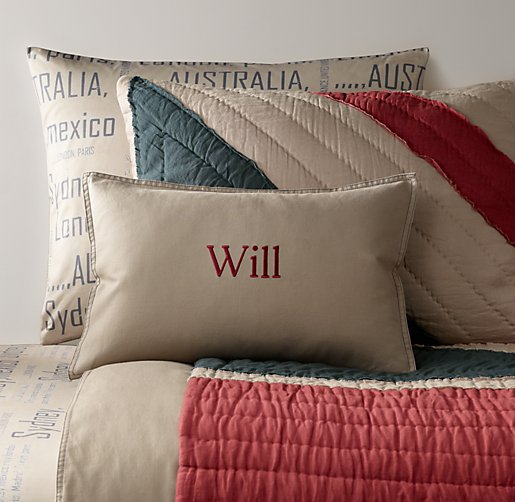 Tumble-Washed Twill & European World Tour Bedding Collection