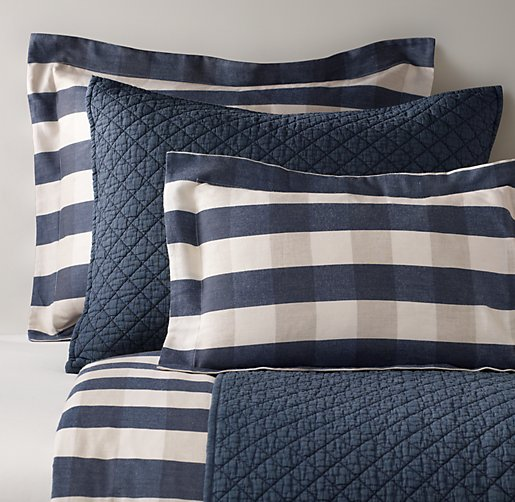 Windsor Plaid & Stonewashed Cotton & European Vintage-Washed Percale Bedding Collection