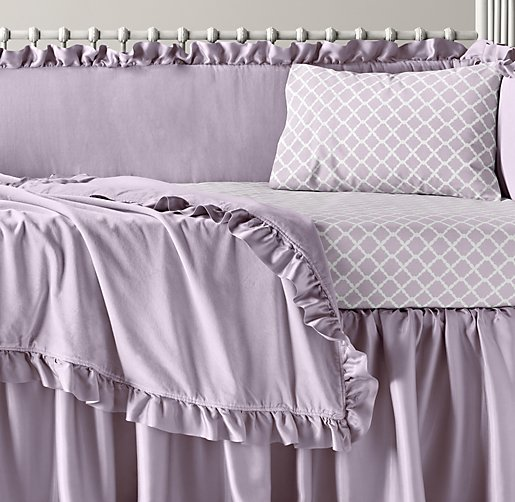 Washed Velvet & European Trellis Nursery Bedding Collection