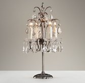 Candelabra Table Lamp Pewter