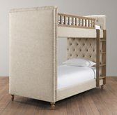 Chesterfield Upholstered Twin-Over-Twin Bunk Bed