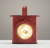 Industrial Carriage Lantern Distressed Red