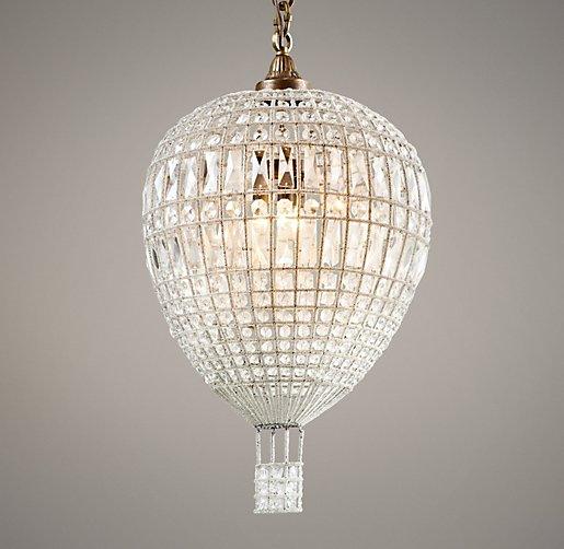 Hot Air Balloon Crystal Pendant