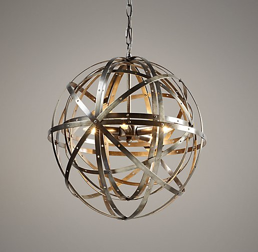 Orbital Sphere Small Pendant Pewter