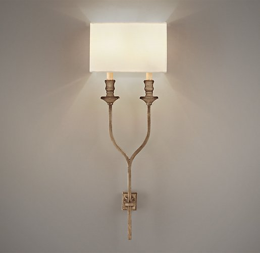 Antiqued Wishbone Sconce