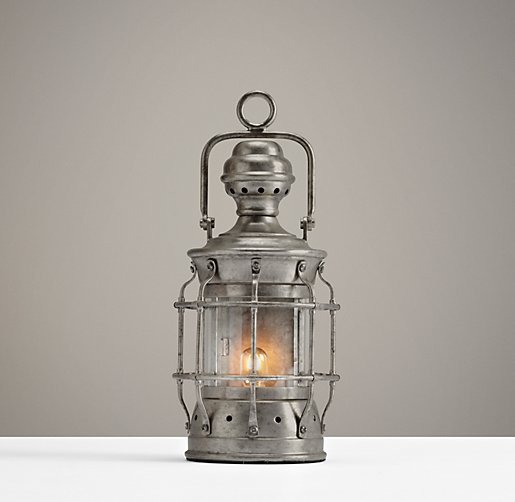 Mini Vintage Lantern Pewter