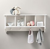 Weathered Wooden Wall Organizer