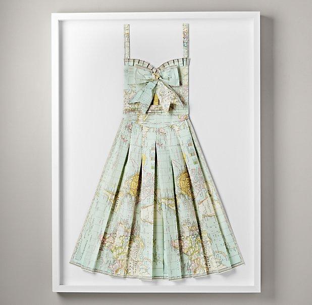 elbise-harita-kagit-dekor-