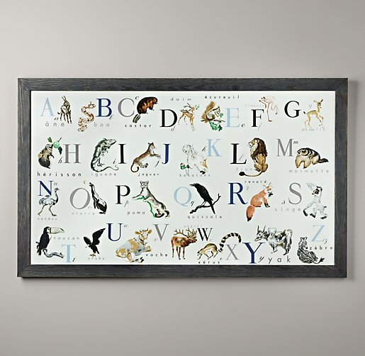 Vintage French Alphabet Book Art