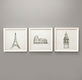 Landmark Sketches Set of 3