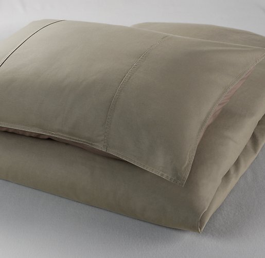 Tumble-Washed Twill Duvet Cover