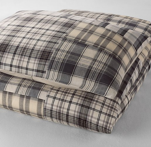 Washed Patchwork Plaid Duvet Cover