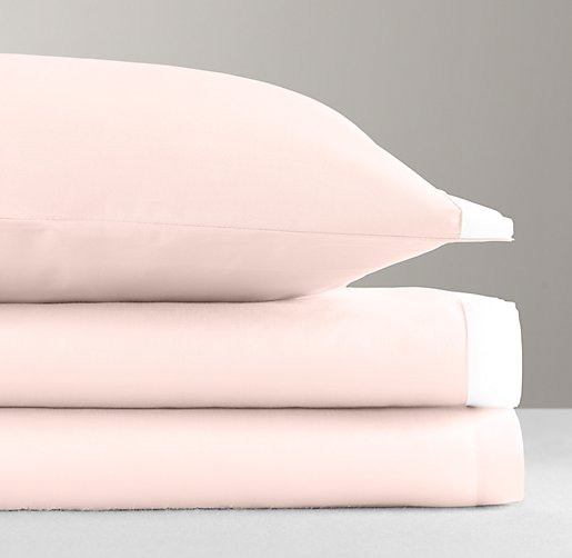 Italian Washed Sateen Bordered Standard Pillowcase