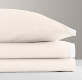 Italian Washed Sateen Bordered Crib Fitted Sheet