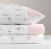 European Vintage Ballerina Crib Fitted Sheet