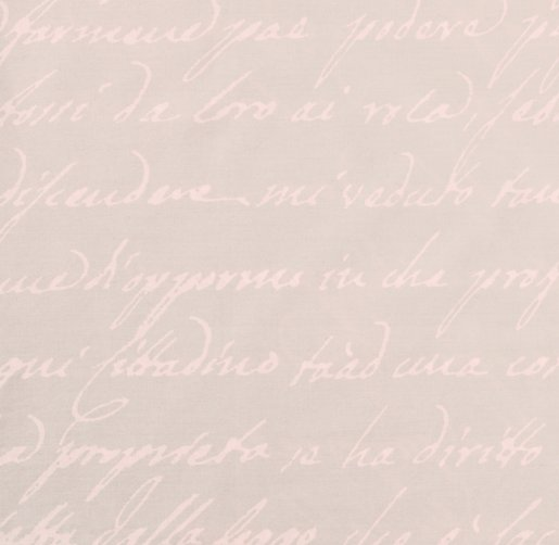 Italian Love Letter Percale Bedding Swatch