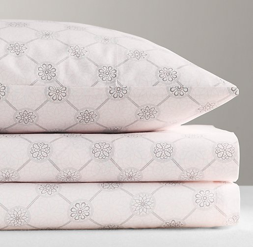 Italian Floral Medallion Crib Fitted Sheet