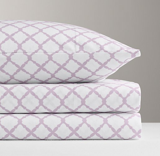 European Lattice Jersey Sheet Set