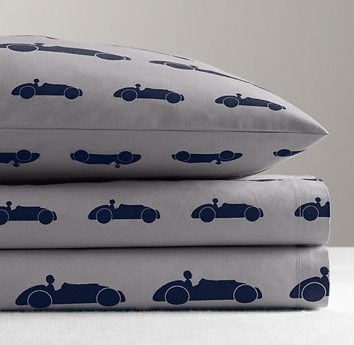 European Roadster Percale Standard Pillowcase