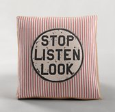Appliquéd Railroad Decorative Pillow Cover