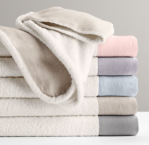 Washed Organic Linen Bath Towel