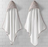 Embroidered Elephant Hooded Towel - Newborn