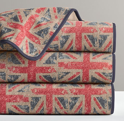 Union Jack Turkish Washcloth
