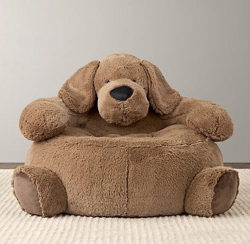 Cuddle Plush Dog Chair
