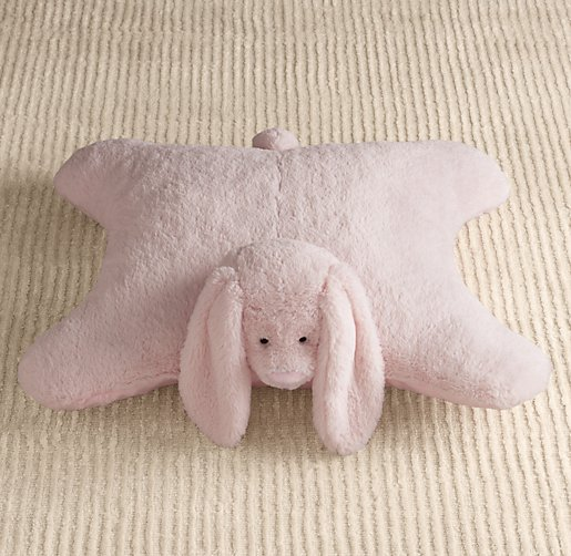 Cuddle Plush Bunny Floor Pillow