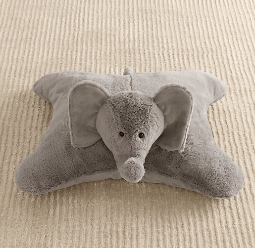 Cuddle Plush Elephant Floor Pillow