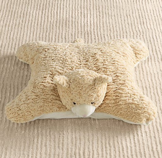 Textured Plush Cat Floor Pillow