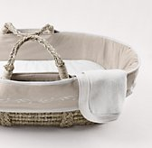 Embroidered Trellis Moses Basket Bedding