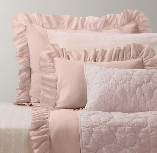 Frayed Ruffle & Italian Love Letter Bedding Collection