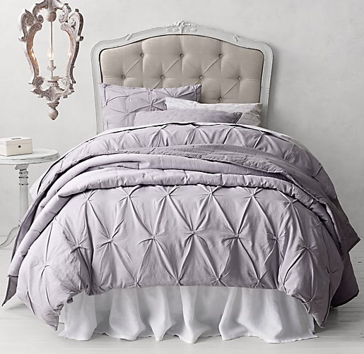 Pintucked Bow & Italian Love Letter Bedding Collection