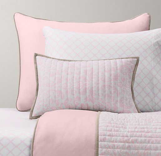 European Heathered Jersey & European Lattice Jersey Bedding Collection