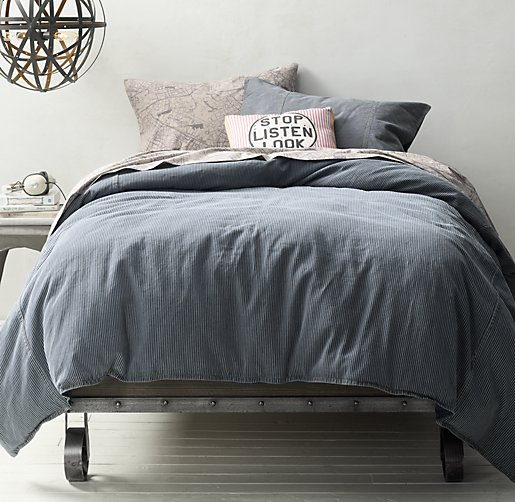Conductor's Stripe & European Vintage Locomotive Bedding Collection